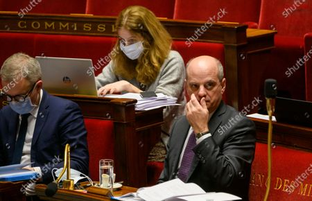 Stock Photo of Francois de Rugy and French Education, Youth and Sports Minister Jean-Michel Blanquer.
