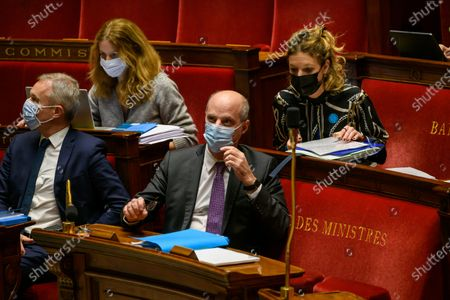 Francois de Rugy and French Education, Youth and Sports Minister Jean-Michel Blanquer.