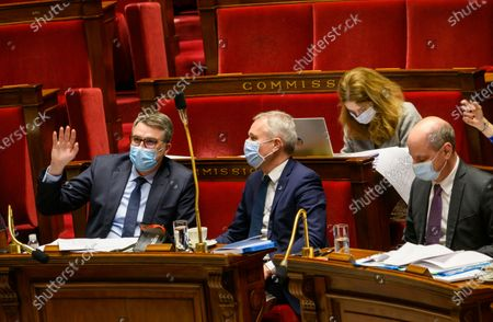 Editorial image of Examination of the law on the respect of republican principe at the national assembly, Paris, France - 12 Feb 2021