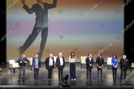 Editorial image of Theatre Anthea live performance 'Hommage a Pierre Desproges', Antibes, France - 12 Feb 2021