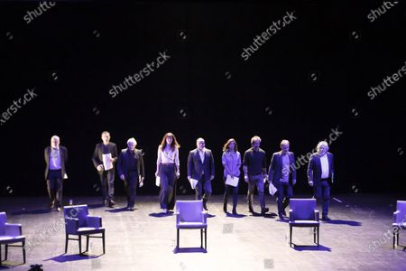 Editorial picture of Theatre Anthea live performance 'Hommage a Pierre Desproges', Antibes, France - 12 Feb 2021