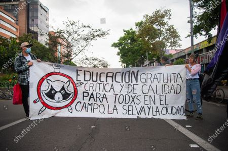 Editorial image of Student protest, Bogota, Colombia - 13 Feb 2021