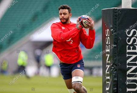 England vs Italy. England's Courtney Lawes during the warm-up