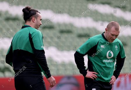 James Lowe with Keith Earls