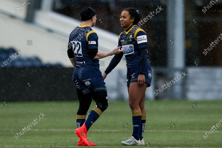 Heather Fisher of Worcester Warriors and Jade Shekells of Worcester Warriors