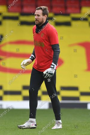 portrait Watford goalkeeper Rob Elliot (33) during the EFL Sky Bet Championship match between Watford and Bristol City at Vicarage Road, Watford