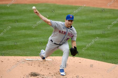 New York Mets starting pitcher Seth Lugo delivers during the first inning of a baseball game against the Washington Nationals in Washington. The Mets' pitching staff took a hit before the start of spring training when the team announced Lugo needs elbow surgery. A bone spur will be repaired in his pitching shoulder and he will miss the start of the 2021 season. His operation is scheduled for at the Hospital for Special Surgery