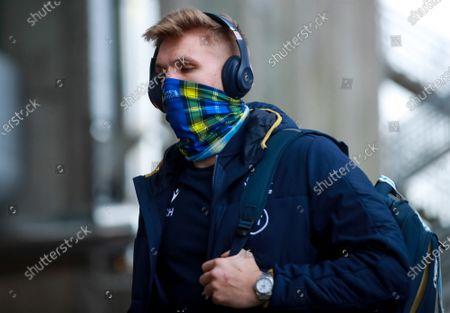 Scotland vs Wales. Scotland's Chris Harris arrives