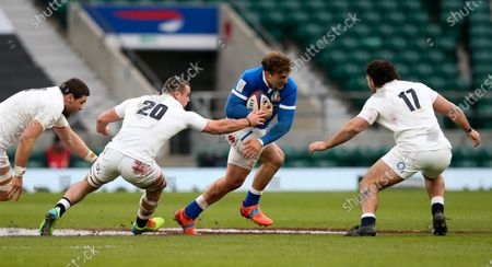 Editorial photo of England v Italy, Guinness 6 Nations, Rugby Union, Twickenham Stadium, London, UK - 13 Feb 2021