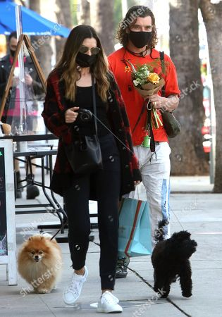 Editorial photo of Gavin Rossdale and Sophia Thomalla out and about, Los Angeles, USA - 13 Feb 2021