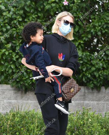 Stock Picture of Paige Butcher and son Max Charles Murphy