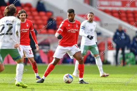 Cafu (18) of Nottingham Forest in action during the Sky Bet Championship match between Nottingham Forest and Bournemouth at the City Ground, Nottingham