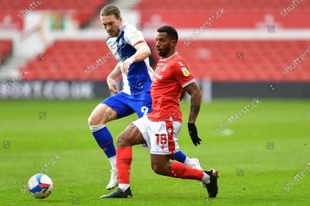 Stock Image of Cafu (18) of Nottingham Forest with Sam Gallagher of Blackburn Rovers