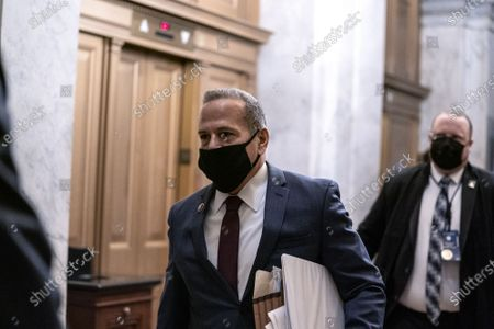 Stock Picture of House impeachment manager Rep. David Cicilline, D-R.I., arrives at the U.S. Capitol for the impeachment trial of former President Donald Trump