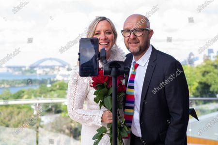Editorial image of Wedding on Valentine's Day at Taronga Zoo in Sydney, Australia - 14 Feb 2021