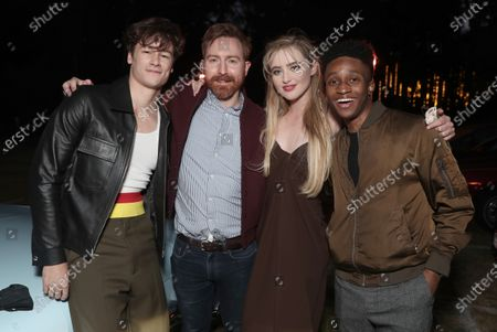 """Stock Picture of Kyle Allen, Director Ian Samuels, Kathryn Newton and Jermaine Harris attend Amazon Studios """"The Map of Tiny Perfect Things"""" Drive In Screening on Saturday, Feb 13 at Calamigos Ranch."""