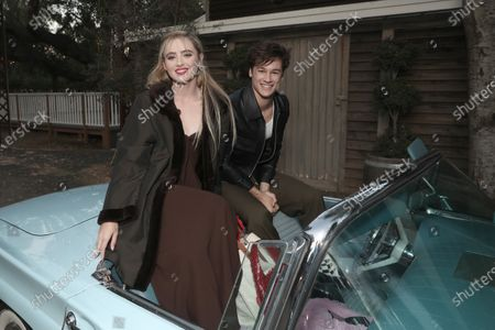 """Kathryn Newton and Kyle Allen attend Amazon Studios """"The Map of Tiny Perfect Things"""" Drive In Screening on Saturday, Feb 13 at Calamigos Ranch."""