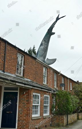 Editorial picture of Oxford's infamous shark house now a holiday home, Headington, Oxfordshire, UK - 14 Feb 2021