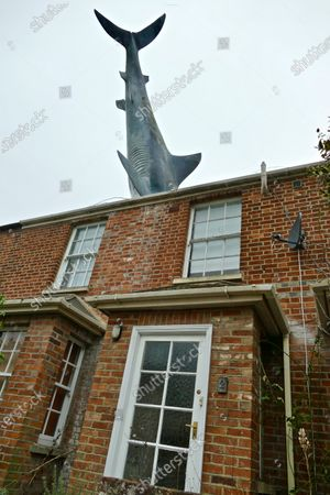 Editorial image of Oxford's infamous shark house now a holiday home, Headington, Oxfordshire, UK - 14 Feb 2021