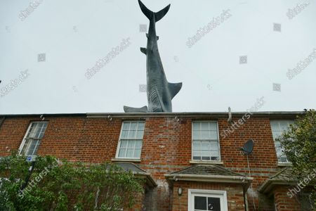 Editorial photo of Oxford's infamous shark house now a holiday home, Headington, Oxfordshire, UK - 14 Feb 2021
