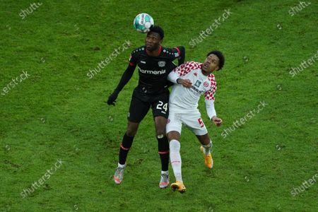 Stock Photo of Timothy Fosu-Mensah, Bayer 04 Leverkusen, AJean Paul Boetius, Mainz 05