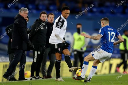 Kenny Tete of Fulham and Lucas Digne of Everton
