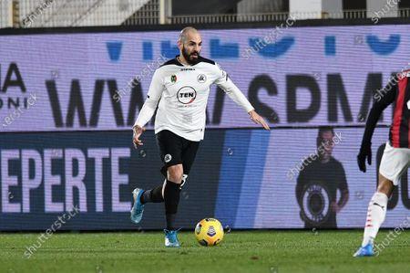 Riccardo Saponara of AC Spezia in action