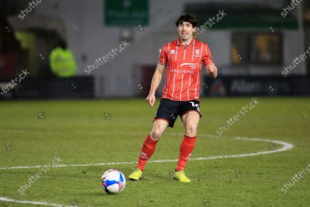 Joe Walsh (16) of Lincoln City  during the EFL Sky Bet League 1 match between Lincoln City and Accrington Stanley at Sincil Bank, Lincoln
