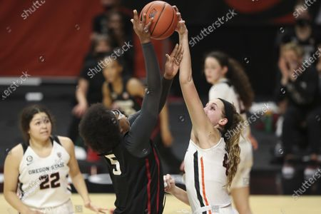 Editorial image of Stanford Oregon St Basketball, Corvallis, United States - 13 Feb 2021