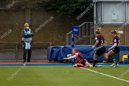 Editorial picture of Saracens Women v Gloucester Hartpury Women, Allianz Premier 15s football, London, UK  - 14 Feb 2021
