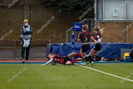 Editorial image of Saracens Women v Gloucester Hartpury Women, Allianz Premier 15s football, London, UK  - 14 Feb 2021