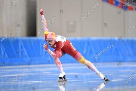 Sumire Kikuchi - Speed Skating : The All Japan Selected Speed Skating Championships Women's 1000m at M-Wave in Nagano, Japan.