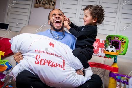 Aston Merrygold partners with Hotels.com to re-home un-used hotel pillows for pandemic parents to scream into this half term