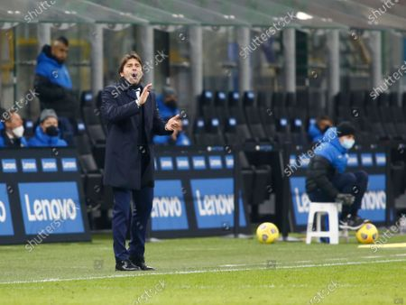 Antonio Conte during Serie A match between Inter v Lazio in Milan, on February 14, 2021. (Photo by Loris Roselli/NurPhoto)