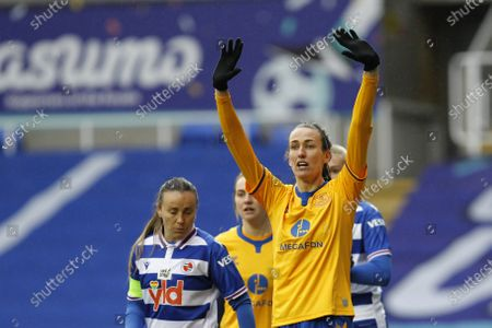 Jill Scott of Everton Women (on Loan from Manchester City) during Barclays FA Women's Super League between Reading and Everton at Madejski Stadium , Reading UK on 14th February 2021  (Photo by Action Foto Sport/NurPhoto)