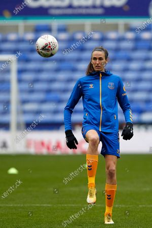 Jill Scott of Everton Women (on Loan from Manchester City) warms up during Barclays FA Women's Super League between Reading and Everton at Madejski Stadium , Reading UK on 14th February 2021  (Photo by Action Foto Sport/NurPhoto)