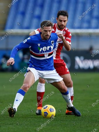 Adrien Silva during Serie A match between Sampdoria v Fiorentina in Genova, on February 14, 2021  (Photo by Loris Roselli/NurPhoto)