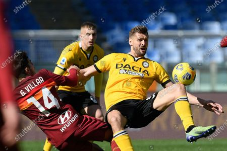 Fernando Llorente of Udinese in action during the Serie A match between AS Roma and Udinese Calcio at Stadio Olimpico on February 14, 2021 in Rome, Italy. (Photo by Roberto Ramaccia / INA Photo Agency)