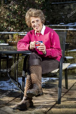 Stock Image of Edwina Currie is plotting a politi- cal comeback at the age of 74 - after being inspired by Joe Biden. m 1983.