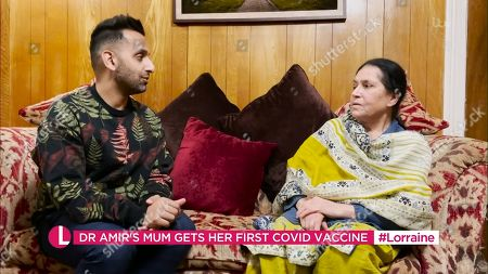 Dr Amir Khan and mother