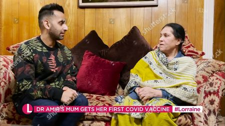 Stock Image of Dr Amir Khan and mother