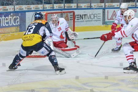 Editorial image of HC Ambri-Piotta v Lausanne HC, National League, Ambri, Switzerland - 14 Feb 2021