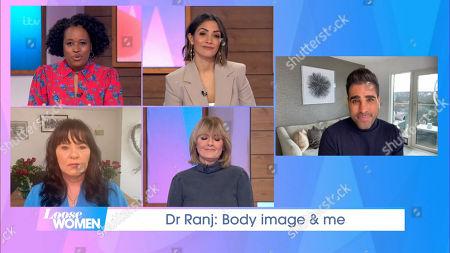 Stock Photo of Charlene White, Frankie Bridge, Coleen Nolan, Jane Moore, Dr Ranjit Singh