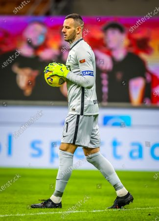 Stock Photo of Samir Handanovic of FC Internazionale 500 matches in Serie A tonight