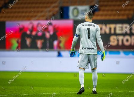 Samir Handanovic of FC Internazionale 500 matches in Serie A tonight