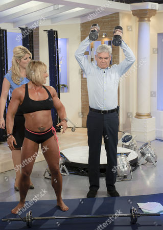 Stock Picture of Sharon Madderson and Phillip Schofield