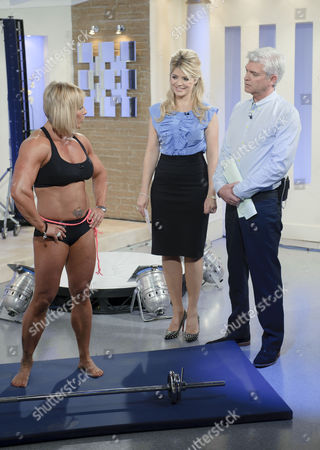 Stock Photo of Sharon Madderson with Holly Willoughby and Phillip Schofield.