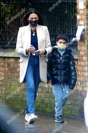 Editorial picture of Exclusive - Lauren Silverman out and about, London, UK - 15 Feb 2021
