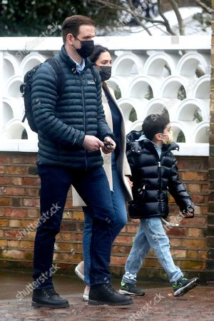 Exclusive - Lauren Silverman and son Eric Cowell in Notting Hill