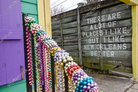Editorial picture of New Orleans Celebrates Mardi Gras 2021 During The Covid 19 Pandemic, New Orleans, USA - 15 Feb 2021
